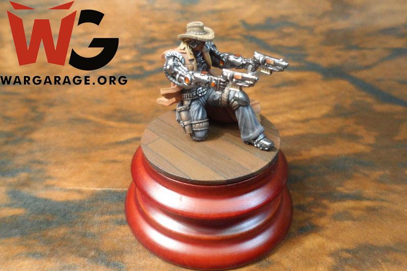 Jesse James del wargame de miniaturas Wild West Exodus de Wayland Games. un Juego Steampunk en el salvaje Oeste