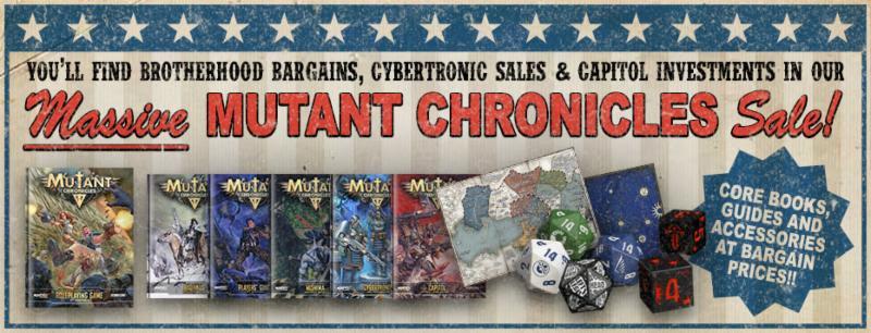 Descuento de mercancía de Mutant Chronicles en Modiphius