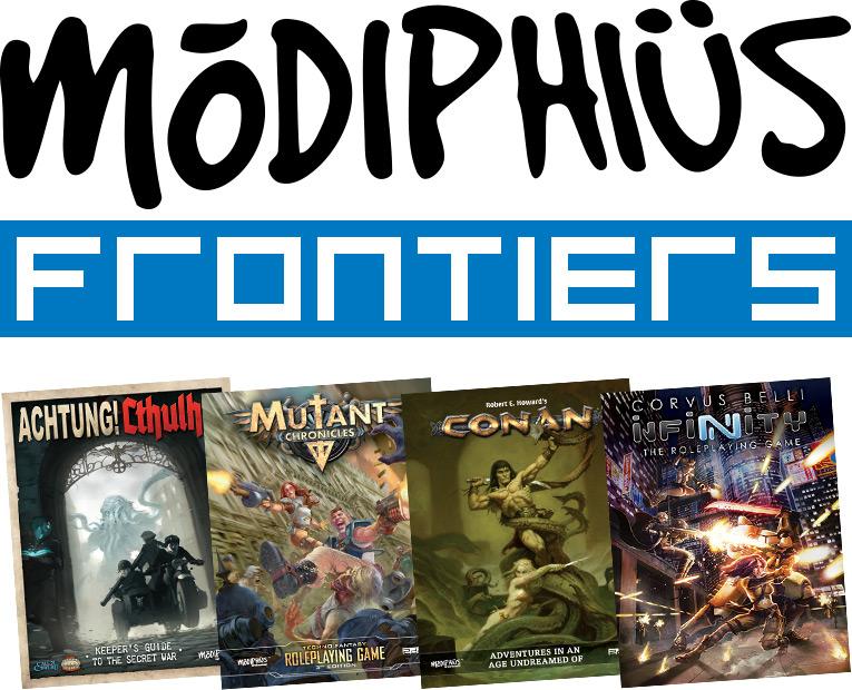 Modiphius Frontiers Proyecto para apoyar las comunidades de los juegos de rol de Modiphius Entertainment