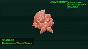 Arte conceptual de un Crawler, unidad de los Destructores
