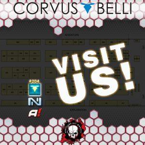 Stand de Corvus Belli en Adepticon