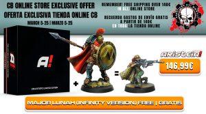"""Con la compra de Aristeia! Core Collector's Limited Edition y Maximus """"Thermopylae"""" obtén una miniatura de Mayor Lunah totalmente gratis"""
