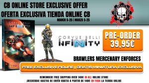 Si pides Infinity Uprising en pre-venta podrás obtener una miniatura exclusiva de Brawlers