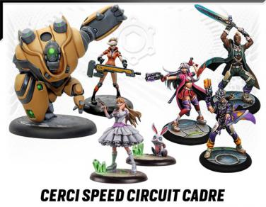 Miniaturas de Cerci Speed Circuit de Relic Knights