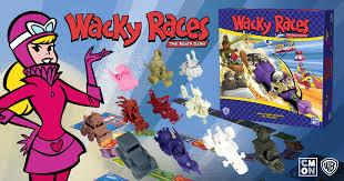 Wacky Races Autos Locos juego de mesa CMON miniaturas