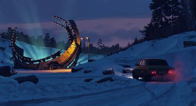Las ilustraciones de Simon Stålenhag para Tales from the Loop son una maravilla