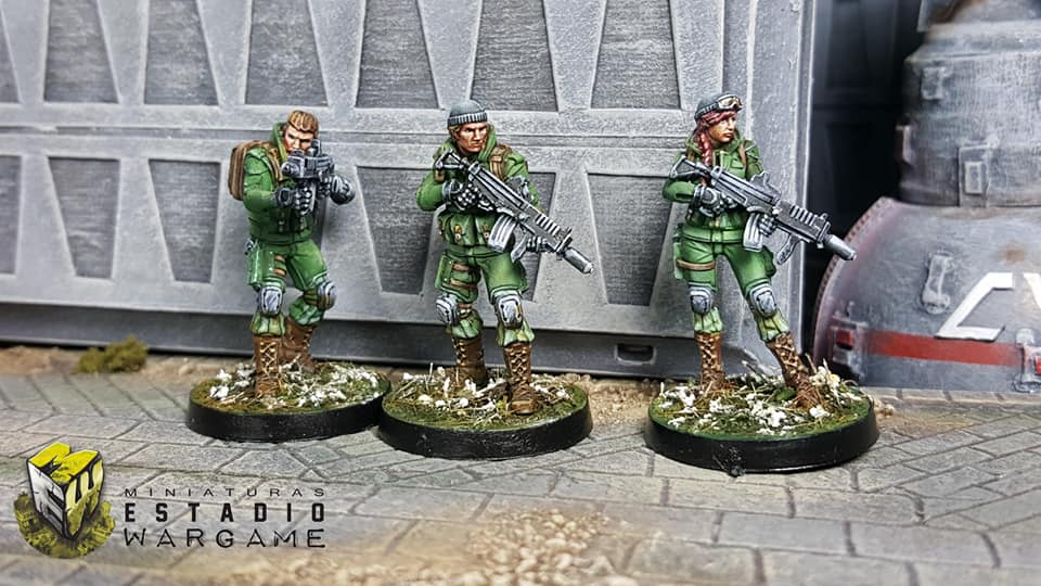 Infinity Line Kazaks pintados por Miniaturas Estadio Wargame1 1