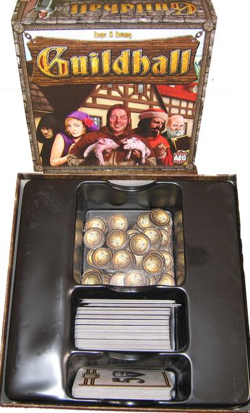 Componentes del juego de cartas Guidlhall