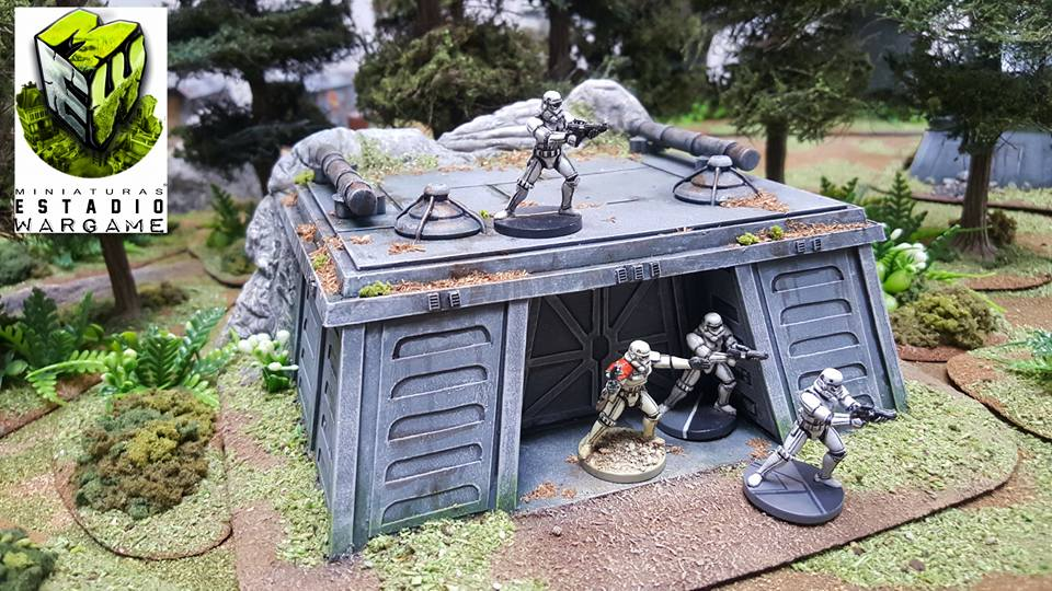 Star Wars Imperial Assault Storm Troopers con escenografía