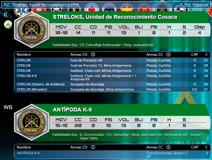 Infinity Operation:Coldfront Advance Pack, Ariadna Sectorial TAK, Strelok K-9
