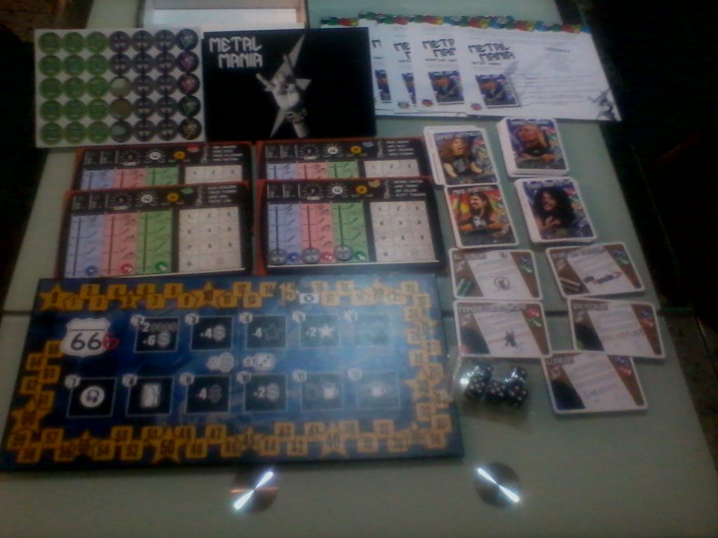 The components of Metal Mania Board Game are very well achieved and are made in very good quality materials