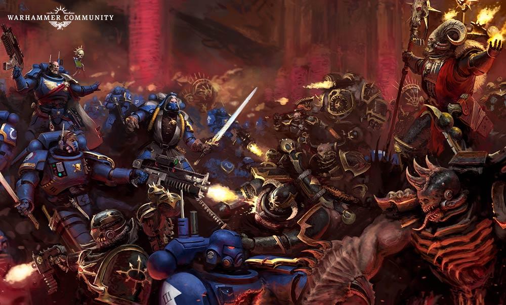 Warhammer 40000 Shadowspear Primaris Space Marine vs Chaos