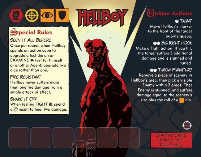 DISEÑANDO HELLBOY: THE BOARD GAME, Cartas de Agente