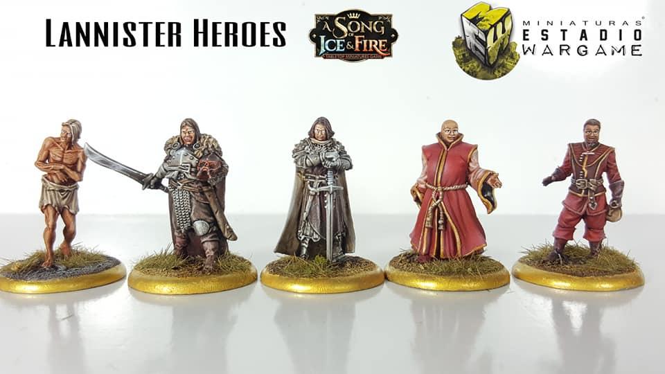 A song of Ice and Fire Lannister Heroes pintados por Miniaturas Estadio Wargame