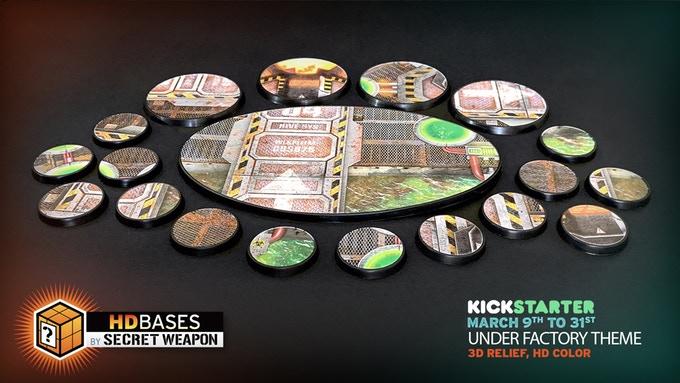 Bases prepintadas de Secret Weapon para Infinity y otros juegos de miniaturas