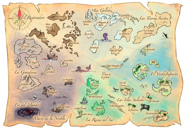 Mapa de 8 tesoros un juego para grumetes de GDM Games