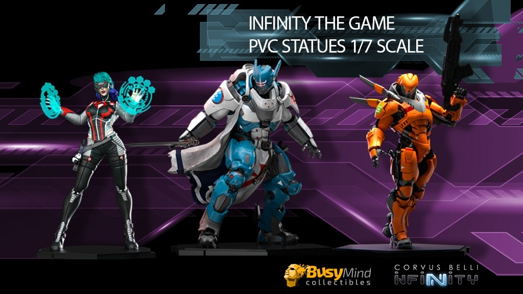Infinity the Game, figuras cyberpunk de PVC (20 cms) con LED Kickstarter