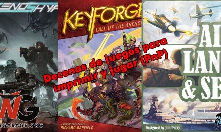 Lista masiva de juegos Print & Play (PnP) para pasar la cuarentena