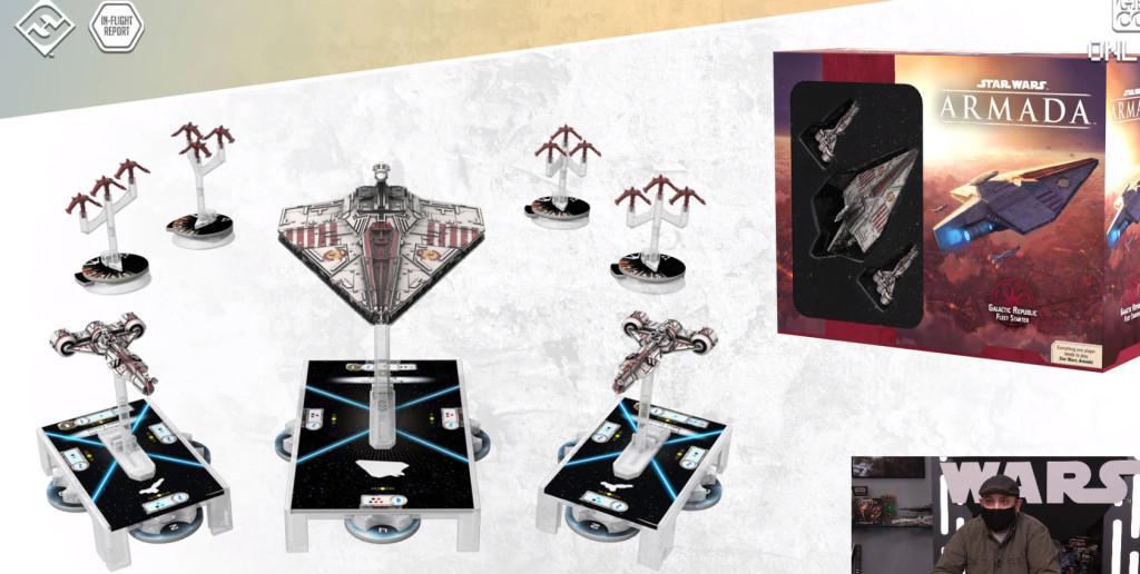 fantasy flight games inflight report star wars Armada Galactic Republic Fleet Starter content