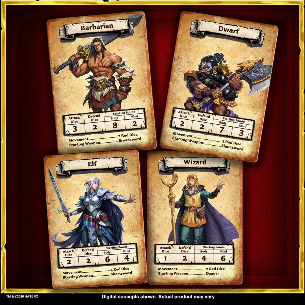 HeroQuest Game System Cartas