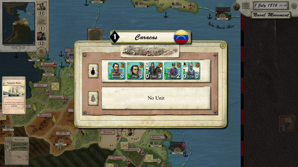 Libertad o Muerte juego de mesa estrategia Campaña Bolivar
