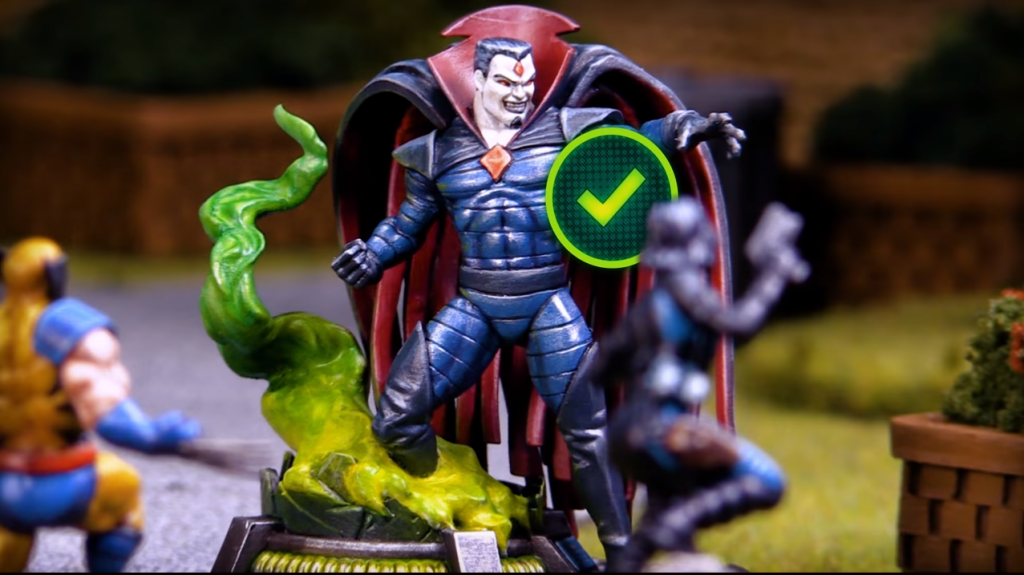 Atomic Mass Games Marvel Crisis Protocol Mister Sinister, Domino y Wolverine