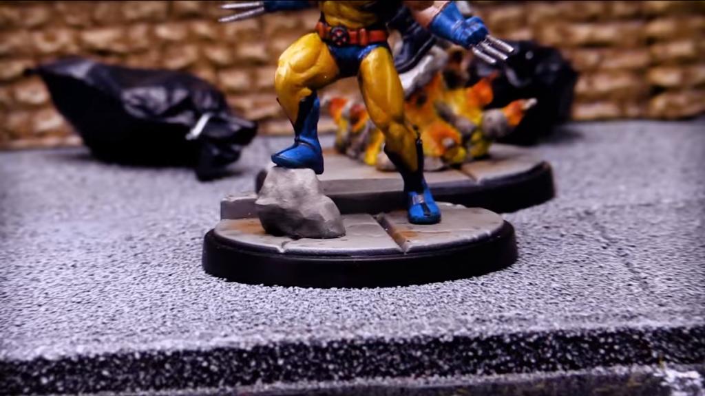 Atomic Mass Games Marvel Crisis Protocol Wolverine y su Roca Táctica