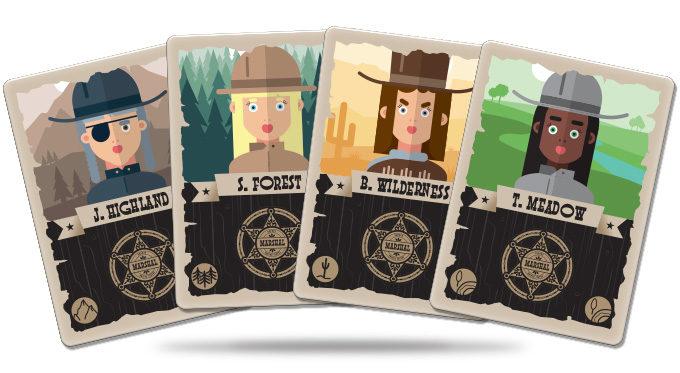 Marshals juego de cartas verkami eclipse editorial cartas de personajes