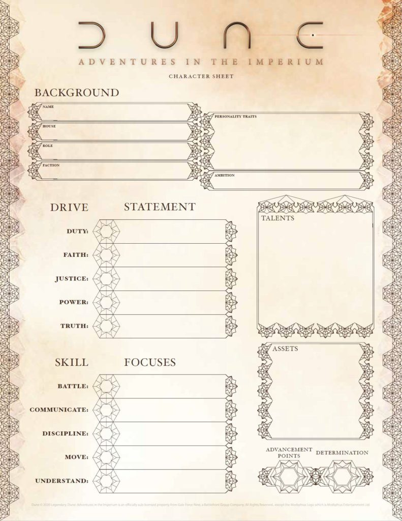 dune adventures in the imperium character and house sheets pdf free dune adventures in the imperium modiphius entertainment 229146