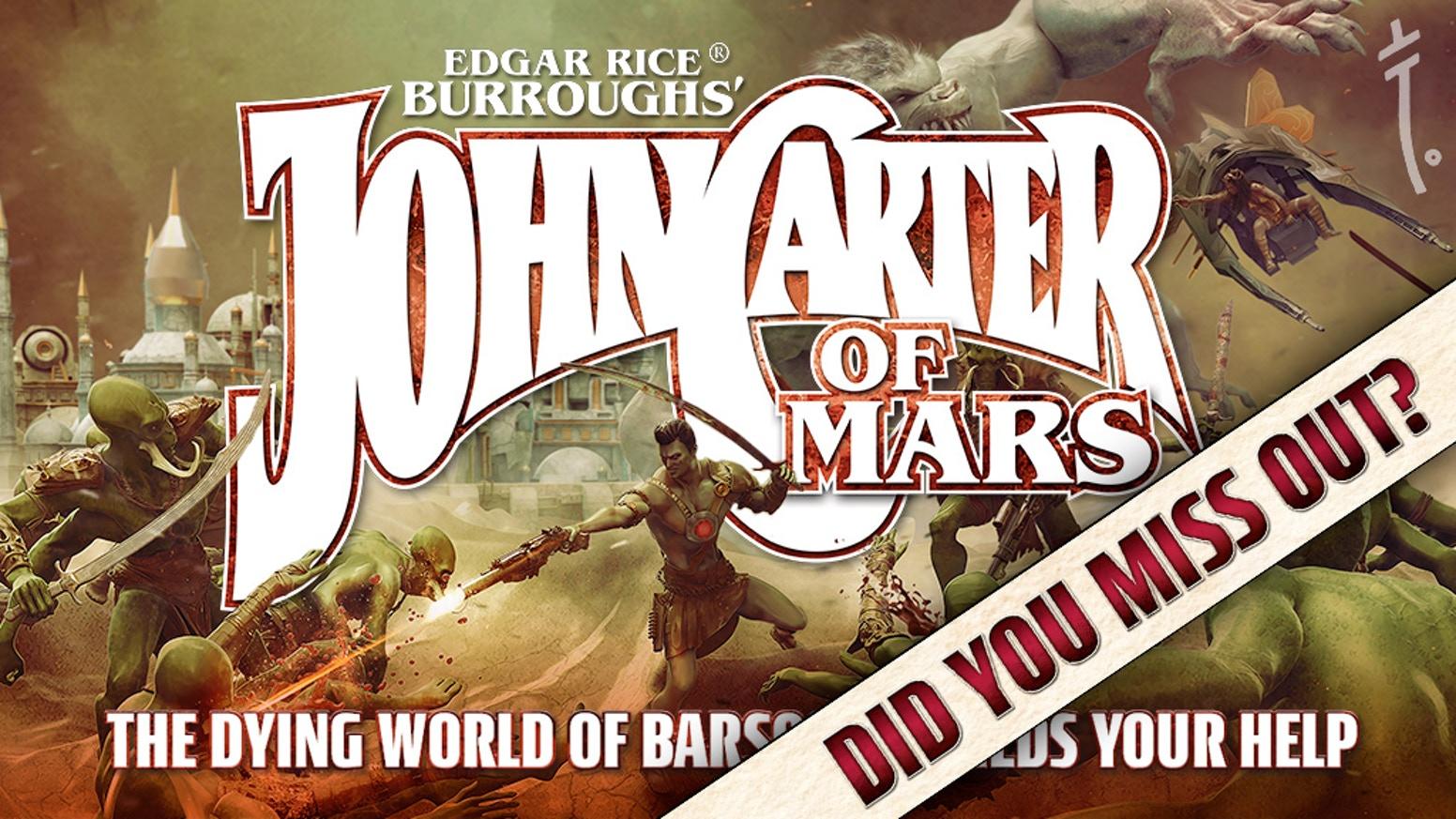 Jhon Carter of Mars juego de rol Late Pledge cover