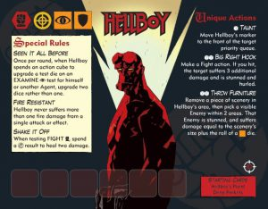 Hellboy the board game agent card