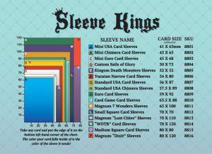 Sleeve Kings micas para cartas, guia de tamaño